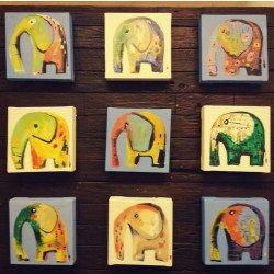 ภาพวาดช้างด้วยสีอครีลิค
