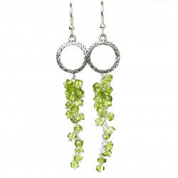 Earring silver and peridot