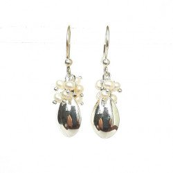 Earring silver and fresh water Pearl