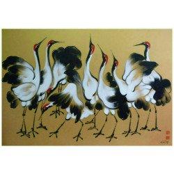 ภาพวาดนกชูคอ