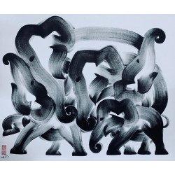 ภาพวาดไว้อาลัยช้างเอลาวัล