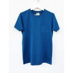 เสื้อยืดมีกระเป๋าสีฟ้าน้ำทะเล