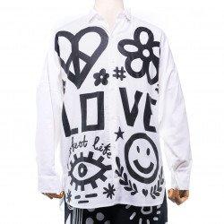 เสื้อเชิ๊ตแขนยาว  พิมพ์ลาย LOVE