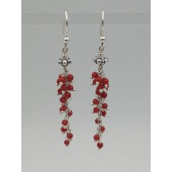 Coral stones and silver 925