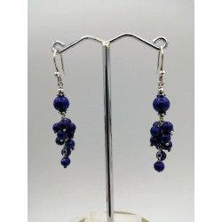 Lapis lazuli stones and silver 925