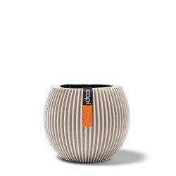 กระถางต้นไม้ วัสดุไฟเบอร์กลาส Indoor (Vase Ball Groove Ivory)