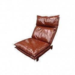 CUSHY เก้าอี้หนัง PU ปรับระดับขาไม้แท้