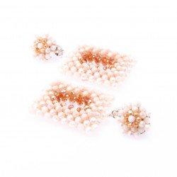 Creamy Crystal Dangle Earrings