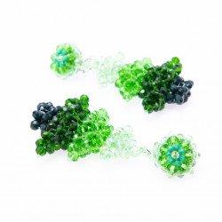 Shades of Emerald Crystal Earrings