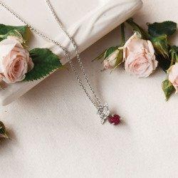 สร้อยคอ รุ่น Double rose pendant