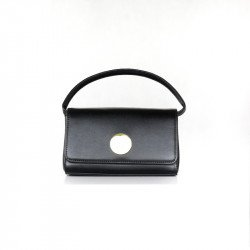 ETC กระเป๋าแฟชั่น กระเป๋าสะพายผู้หญิง กระเป๋าถือ ทรงเหลี่ยมที่ปิดโลหะกลมทอง รุ่น CX 324