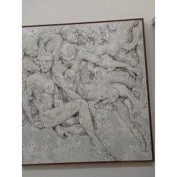 Acrylic paint White Human