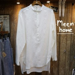 เสื้อคุณพ่อ คอจีนสีขาว