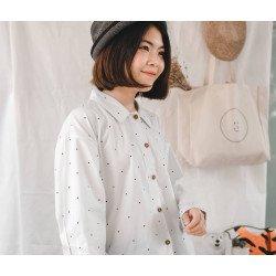 """เสื้อเชิ้ตแขนยาว """" Hana-San Blouse """""""