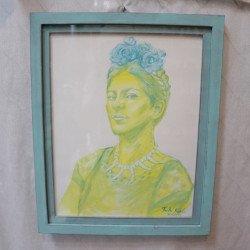 รูปวาดผู้หญิง ปีด้า