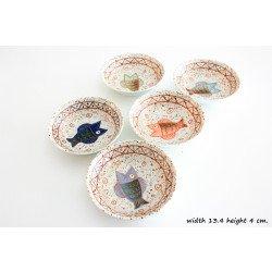 จานซอสลายปลา 5 สี