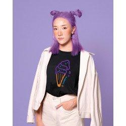 เสื้อยืด Purple potato ice-cream oversize t-shirt 🍠💜