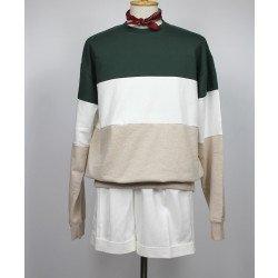 เสื้อ 3TONE Sweatshirt : Green