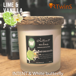Scented candle: Lime & Vanilla