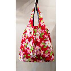 กระเป๋าย่ามแดงลายดอกไม้