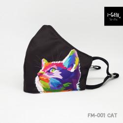 หน้ากากผ้าพิมพ์ลายกราฟิก #CAT