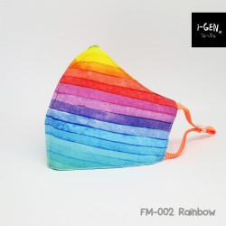 หน้ากากผ้าพิมพ์ลายกราฟิก #Rainbow