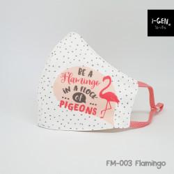 หน้ากากผ้าพิมพ์ลายกราฟิก #Flamingo