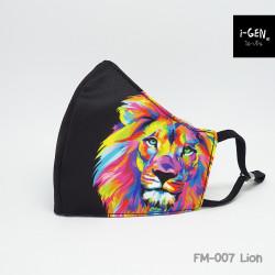 หน้ากากผ้าพิมพ์ลายกราฟิก #Lion