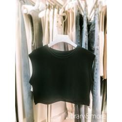 เสื้อครอปท็อปเกาหลี: ดำ
