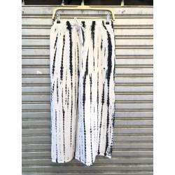 กางเกงขายาว(ขาบานที่ปลาย) ขาว/ดำ