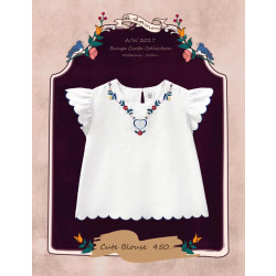 เสื้อปักลายดอกไม้น่ารัก ✿ BuNga Cinta ✿ : ขาว