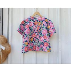 เสื้อลาย pink flower
