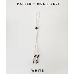 [สายคล้องแมส] ' PATTER • MULTI BELT ' • White