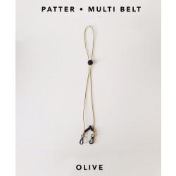 [สายคล้องแมส] ' PATTER • MULTI BELT ' • Olive