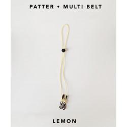 [สายคล้องแมส] ' PATTER • MULTI BELT ' • Lemon