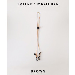 [สายคล้องแมส] ' PATTER • MULTI BELT ' • Brown