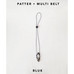 [สายคล้องแมส] ' PATTER • MULTI BELT ' • Blue