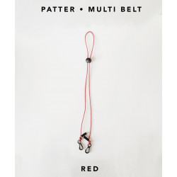 [สายคล้องแมส] ' PATTER • MULTI BELT ' • Red