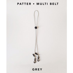[สายคล้องแมส] ' PATTER • MULTI BELT ' • Grey