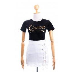 (สีดำ) เสื้อยืดสกรีนลายQueen