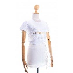 (สีขาว) เสื้อยืด punkberry